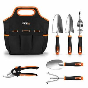 TACKLIFE 6 Piece Stainless Steel Heavy Duty Garden Tools Set, with Non-slip Rubb