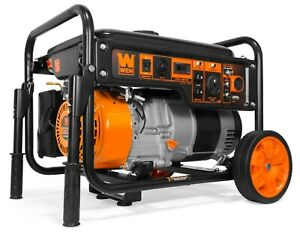 WEN GN6000 6000 Watt RV Ready Portable Generator with Wheel Kit CARB Compliant