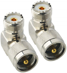Boobrie UHF Connector Right Angle Coax Connector UHF Male Plug PL259 to UHF Jack $16.14