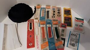 MIXED LOT OF HUGE SEWING SUPPLIES OLD TO NEW NEEDLES ZIPPERS VARIOUS ESTATE $25.00