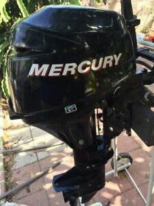 Mercury outboard motor 9.9 4 stroke low hour pull start