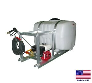 PRESSURE WASHER Commercial - Skid Mounted - 3 GPM - 2500 PSI - 100 Gallon Tank
