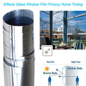 One Way Mirror Window Film - Home Tinting Privacy Protect Heat Reflective Reduce