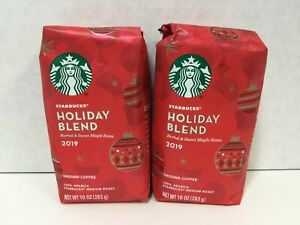 Starbucks Holiday Blend Medium Roast Ground Coffee, 10 Ounce, 2 Bags, 03/2020