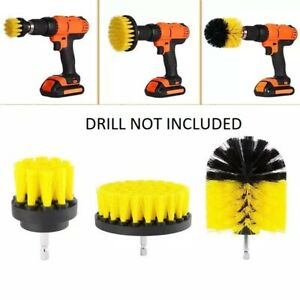 3PCS Drill Brush Power Scrubber Drill Attachments For Carpet Tile Grout Cleaning $8.57