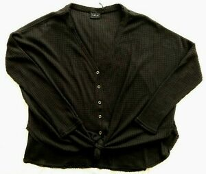 Urban Outfitters Out From Under Womens Black Button Up Sweater Size M $15.00