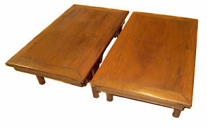 PAIR Antique K'ANG Tables HARDWOOD Chinese RARE Provenance