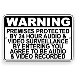 Protected By Recorded Audio & Video Surveillance Metal Sign Decal 7 SIZES S069