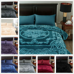 Solid Color Silky Soft Quality reversible Korean Mink Blanket For Spring