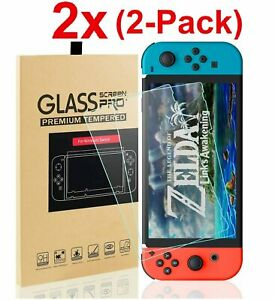 Nintendo Switch Premium Tempered Ultra Clear Glass Screen Protector 2 Pack $4.95