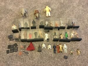 Lot of 37 Vintage Star Wars 1977-1985 Kenner Hong Kong R2-D2 Hans figures+
