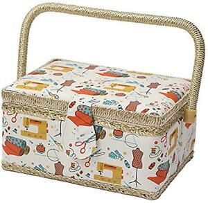 Sewing Basket with Sewing Kit AccessoriesSmall Sewing Organizer Box with Suppli $24.99