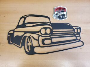 Chevy Apache Truck Metal Wall art Plasma Cut Home Decor Gift Idea $43.99
