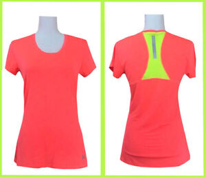 🔥Under Armour Women's Semi Fitted Heat Gear Athletic Run T Shirt Small Coral🔥 $19.99