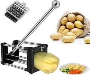 French Fry Cutter, Professional Potato Chipper with Extended Handle, Vegetable S
