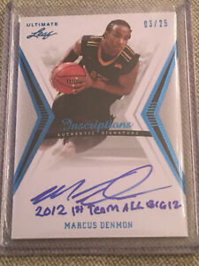 MARCUS DENMON 2012 LEAF ULTIMATE BASKETBALL AUTOGRAPH #3 25 CHINESE LEAGUE STAR $12.99