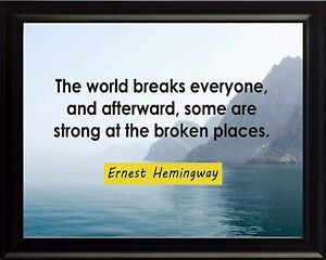 Ernest Hemingway The World Print Picture or Framed Wall Art