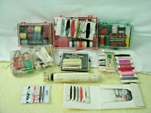 Vintage Sewing Kits Advertising 12 Assorted Cases Cards Complete amp; Incomplete $12.99