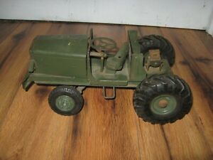Vtg 1950's Doepke Euclid Pioneer Model Toy Bottom Dump Truck Tractor Only Green
