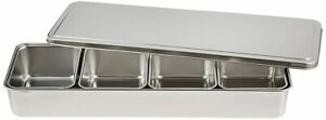 Stainless Yakumi Pan Seasoning Container W 4 Compartments Japan Import