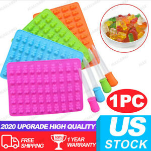 4 Colors Silicone Bear Candy Mold Mini Bear Cholocate Molds Candy Gummy Molds