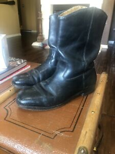 Vintage Black Redwing Boots Size 8 1 2
