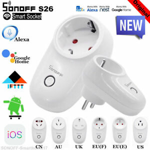 Sonoff S26 IFTTT WIFI Smart Power Socket Wireless Remote Timer US/EU/UK/AU Plug@