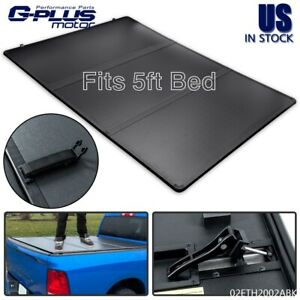 FIT FOR 2016 2021 TOYOTA TACOMA PICKUP TRI FOLD HARD TONNEAU COVER 5FT SHORT BED $365.28