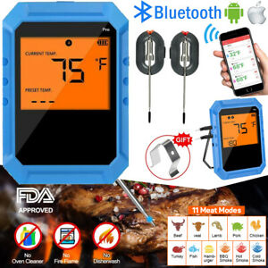 Bluetooth Digital Meat Thermometer Remote Read for Cooking BBQ Grilling Oven