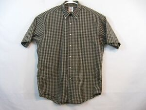 Brooks Brothers Sport shirt mens size medium M short sleeve Brown Plaid $20.90