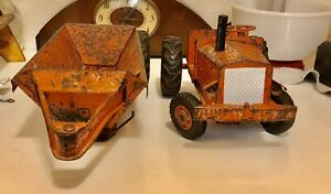 Vintage 1950s Doepke Euclid Toy Bottom Dump Truck Dirt Earth Hauler