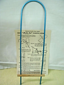 Vintage Hero MALTE SET Hairpin Loom with instructions Original
