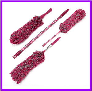 Premium Microfiber Duster 4pcs Set Bendable Duster Telescopic Pole by Campanelli