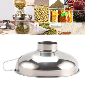 Stainless Steel Wide Mouth Funnel Canning Hopper Food Kitchen Helper