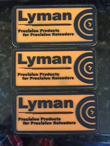 ***Lot of 3*** Lyman Precision Products Reloaders PVC Patch Hook Loop Tactical