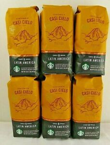 Starbucks Guatemala Casi Cielo Antigua Whole Bean Coffee 6-1lb Bags
