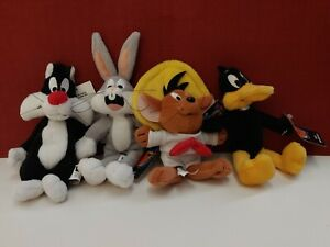 Looney Tunes Mini Bean Bag Plush set of 4 Bugs Sylvester Daffy Speedy