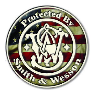 Smith & Wesson USA Flag Gun Rights Tool Box Bumper Sticker Vinyl Decal