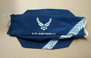 Home Made USA Military Air Force Face Mask Reflective Elastic x2 Layer Washable