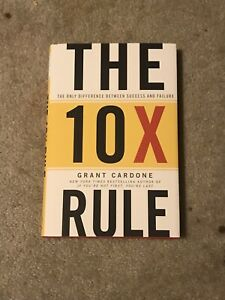 `Cardone, Grant` The 10X Rule BOOK NEW