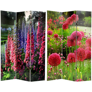 6 Ft. Printed 3-Panel French Garden Room Divider