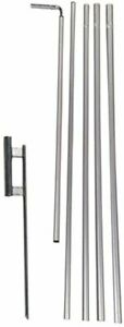 15 Foot Rectangle Pole Kit and Ground Spike, Made for 3x12ft Rectangle Flags...