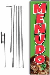 Menudo Mexican Restaurant Food Advertising Rectangle Feather Banner Swooper...