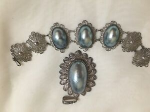 Vintage Silver Filigree Necklace amp; Earring