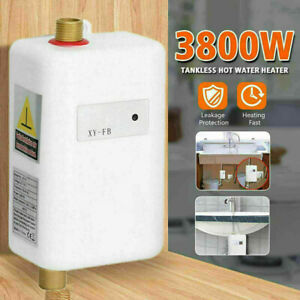 110V/220V 3800W Instant Electric Mini Water Heater Tankless Shower Hot Water