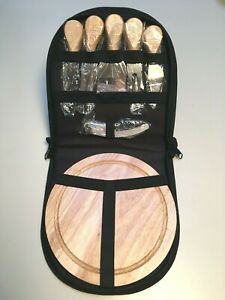 Cheese Cutting Board 8-pc Set w/Fork, Knife, Spreader, Shavers & Carry Case