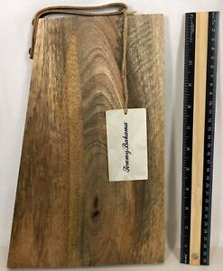 Tommy Bahama Hanging Cheese Board Appetizer Tray Wooden Angled Cutting Board