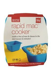 Rapid Mac Cooker Box Bowl Microwave Macaroni Noodles Cheese Rice Fast Prep Easy
