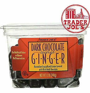 🔥 Trader Joe's Dark Chocolate Covered Ginger 🔥10 x containers per order ** WOW
