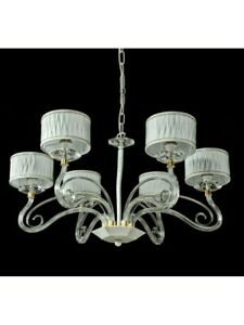 Modern Chandelier Design White Crystal With Shades Tp 219-LA-6-32